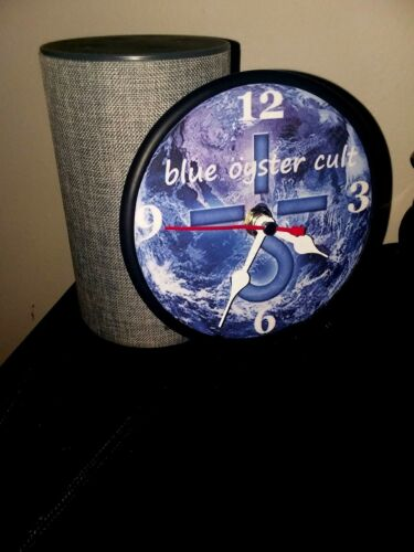 BLUE OYSTER CULT - 5 INCH QUARTZ DESKTOP CLOCK - BLACK STAND AND GIFT BOX - NEW