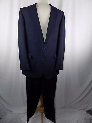 ANDHURST Custom Collection Men's Blue Pinstripe Suit 34R Jacket 38 x 31 Pant
