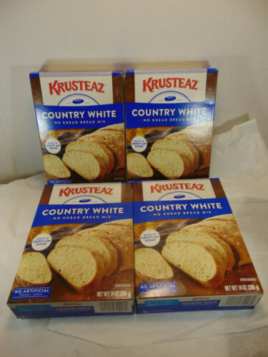 Krusteaz Classic Country White Bread mix 14 OZ / Pack of 4 Boxes Priority ship!