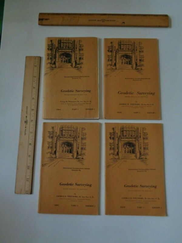 International Correspondence Schools 7 Surveying Books