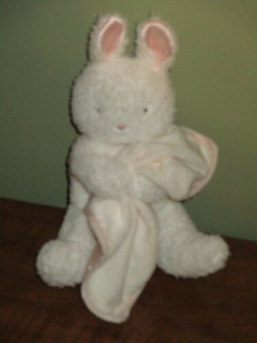 Bunnies by the Bay Plush White Bunny Rabbit Holding Blanket