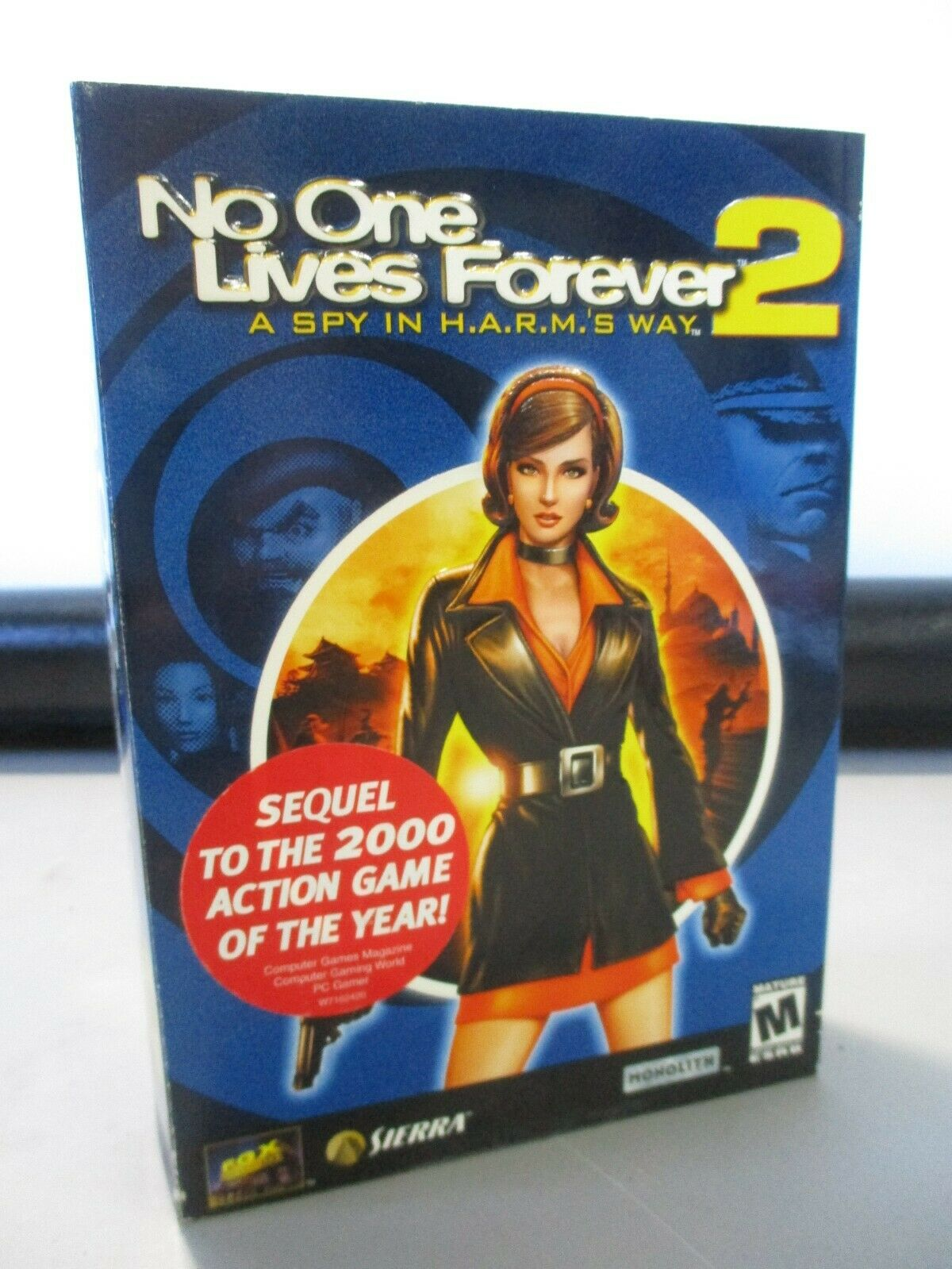 Computer Games - VINTAGE PC COMPUTER GAME CD ROM SIERRA NO ONE LIVES FOREVER 2 GAME IN BOX