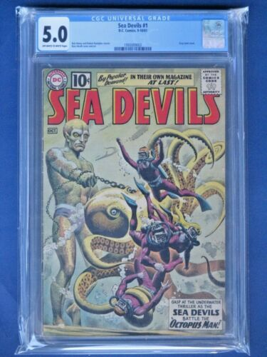 Sea Devils #1 - CGC 5.0 - Early DC Silver Age Premiere Issue