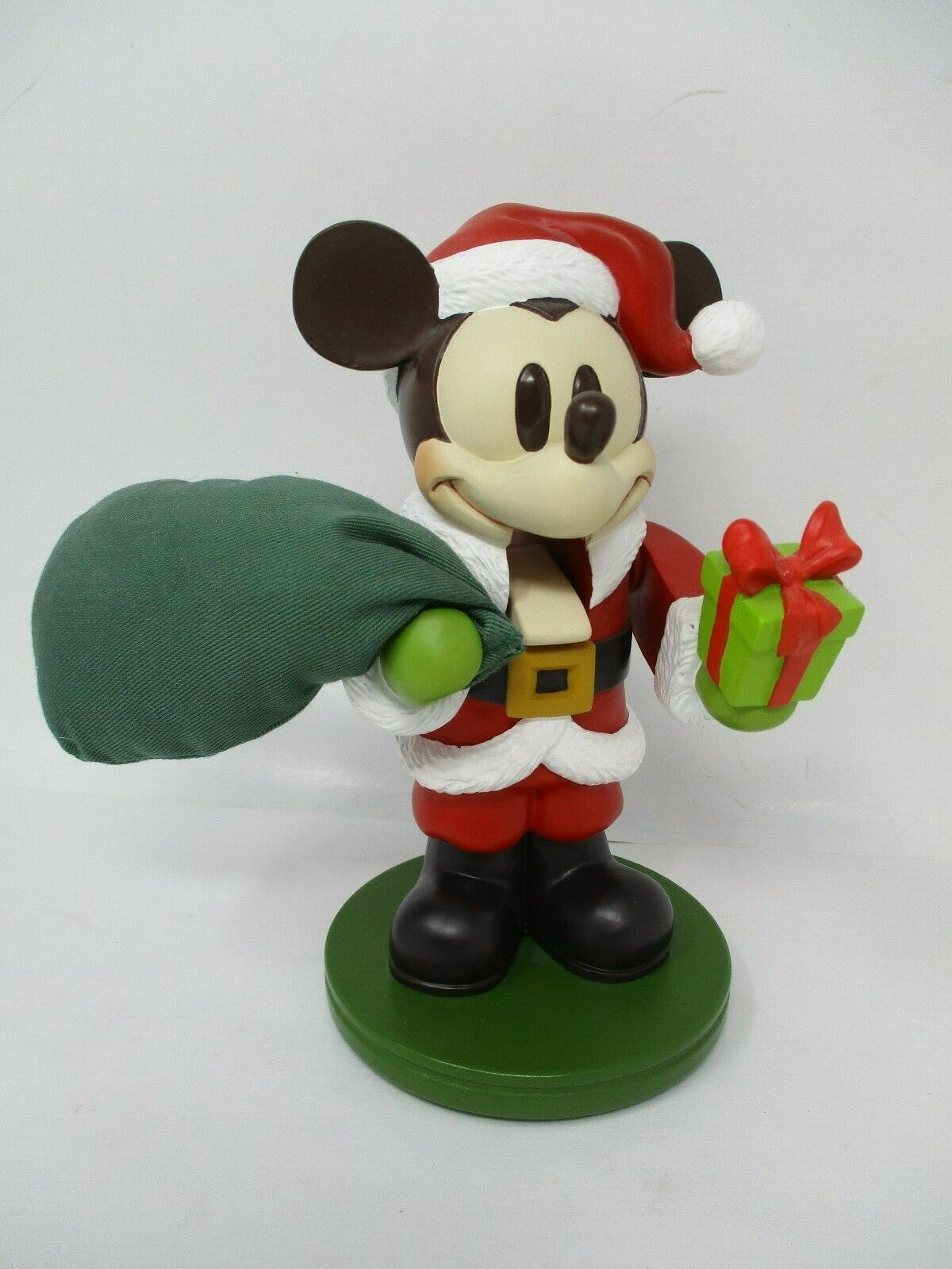 "Vintage Disney 8"" Mickey Mouse Santa Nutcracker Figurine"