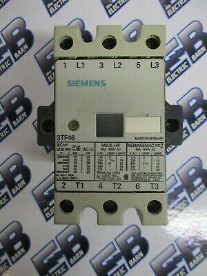 Siemens 3tf46 Size 2 45 Amp 600 Volt 3 Pole Contactor 120 Volt Coil- C53