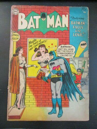 BATMAN # 87, 1954 DC, -G, 1.8, BATMAN FALLS IN LOVE BY BILL FINGER, JOKER