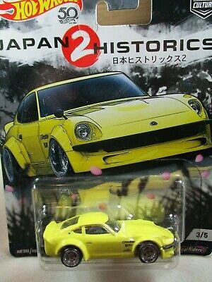 Hot Wheels Japan Historics 2- Nissan Fairlady Z  Yellow 3/5 Metal/Metal