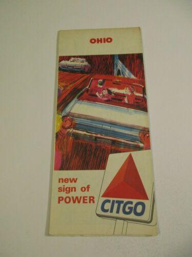 Vintage 1965 Citgo Ohio State Highway Gas Station Travel Road Map-Box 3