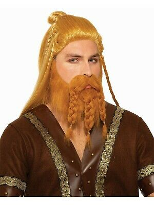 Deluxe Viking Wig with Beard  Adult Caveman Warrior Barbarian Costume Accessory