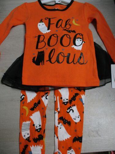 "Girls Halloween Pajamas Set w/ Tutu  ""Fab-Boo-Lous"" Just One You (12M, 18M, 2T)"