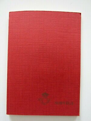 NORWAY - 1977 DELEGATES 24 PAGE SOUVENIR BOOK FOR EXPO - FULL OF MNH SETS 1970's