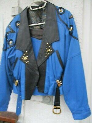 echt Leder Kostüm Lederjacke Lederrock Folklore 80iger Spain - Folklore Kostüme