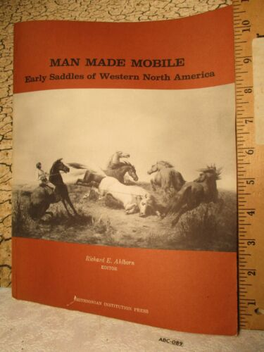 1980 Saddle History Book MAN MADE MOBILE of North America by SMITHSONIAN