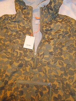Jack Spade Vance Floral Camo Green Cotton Anorak Jacket  NWT Medium $398 Green Cotton Jacke