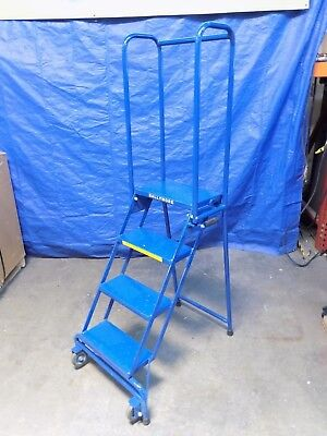 Ballymore Lock-n-stock Portable Rolling Safety Ladder 4-step 300 Lb. Capacity
