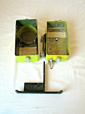 2 Geiger Counter Base Parts Cases Case Casing Cd V-720 Cold War Vintage