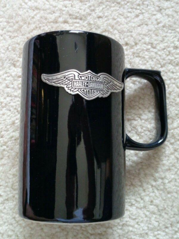 Harley-Davidson Tall Black Coffee Mug With Wing