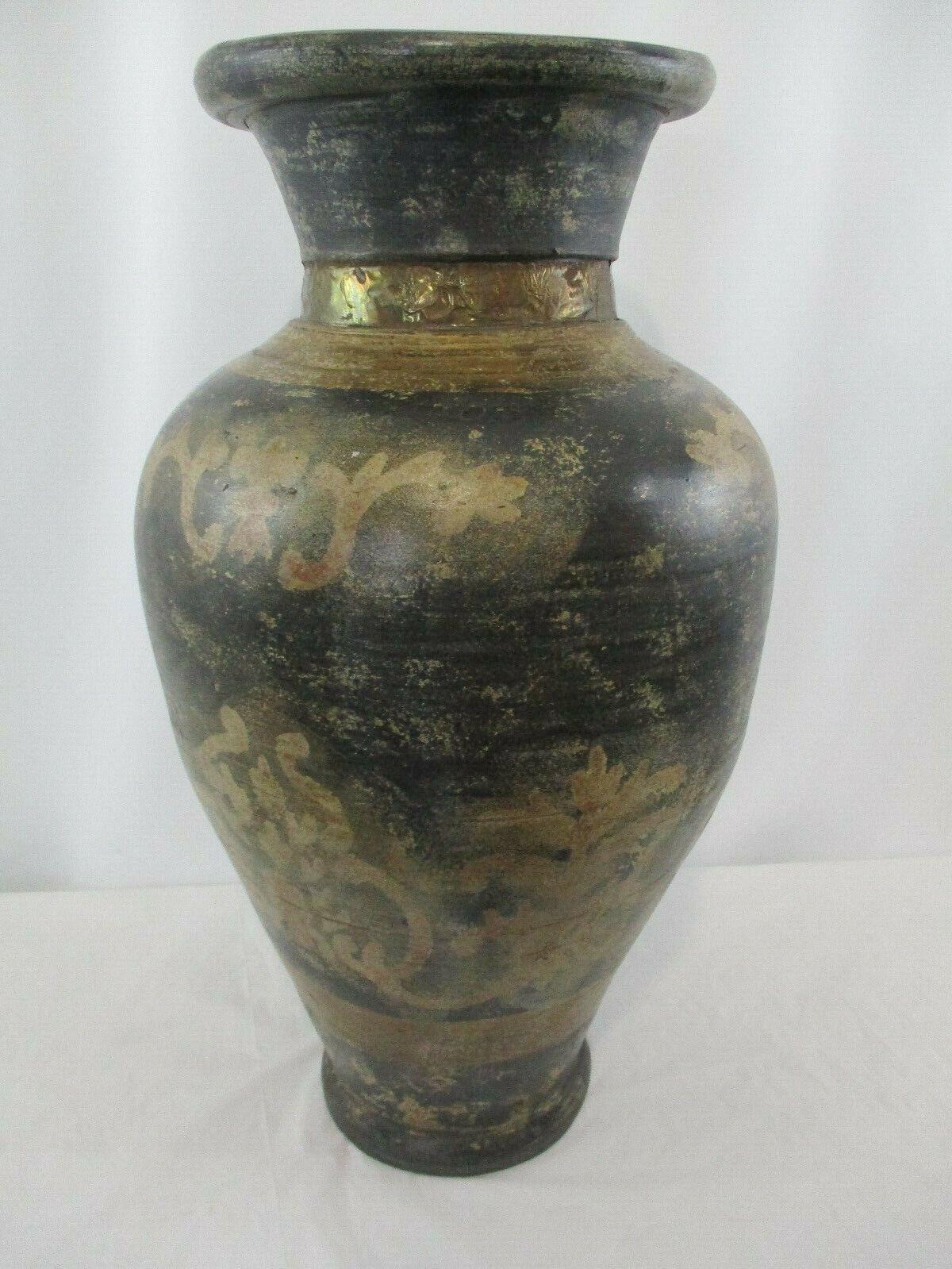 """Uttermost Large 20"""" Ceramic Vase Made In India"""