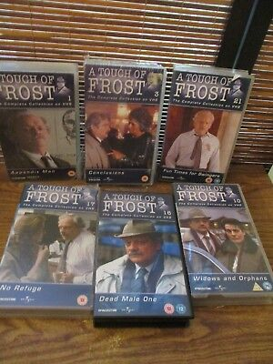 A Touch of Frost   - Six VHS Video Tapes - Dead male one / no (A Touch Of Frost Dead Male One)