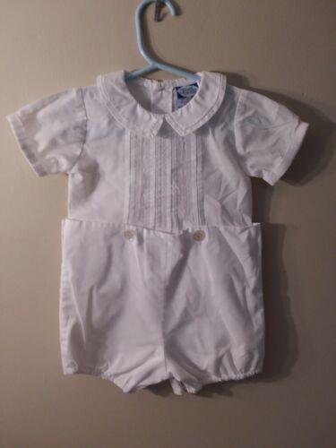 Carriage Boutique Short Romper White Shirt & Shorts 12 Months 2 piece