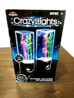 Cra-Z-Art CRAZY LIGHTS USB Magic Water Speakers Black New laptop