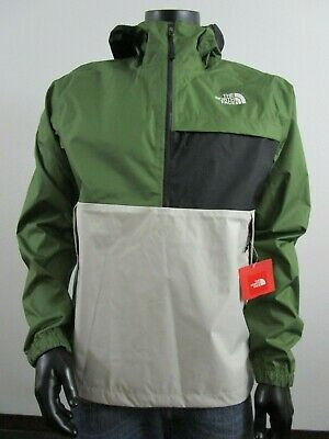Mens TNF The North Face Karakum Dryvent Waterproof PO Hooded Rain Jacket Green