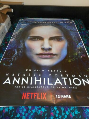ANNIHILATION - ORIGINAL DOUBLE SIDED FRENCH BUS STOP POSTER - NATALIE PORTMAN
