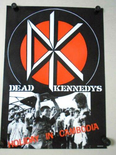 """DEAD KENNEDY""""S/ Original Vintage UK Poster / New cond. / 23 x 32 1/2"""""""