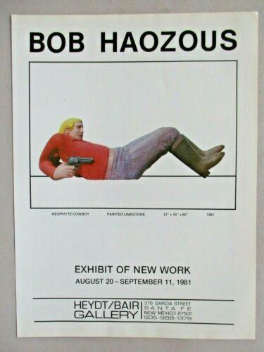 Bob Haozous Art Gallery Exhibit PRINT AD - 1981