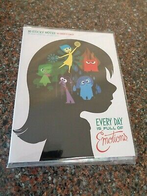Disney Store Inside Out Sticky Note Set 16 Designs New Authentic