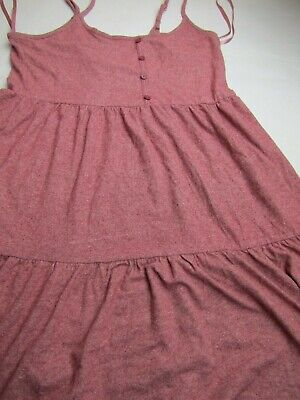 Women's Sleeveless Button Front Knit Tiered Mini Dress-Wild Fable-Berry Maroon Front Knit Dress