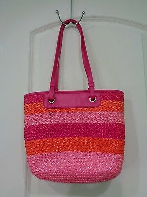 Beautiful Straw Bags ( Very Beautiful Straw & faux leather Multicolor Shoulder Bag )