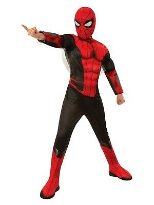 Spider-Man Far From Home Spiderman Deluxe Red Black Suit Childs Costume - Spiderman Costume Deluxe