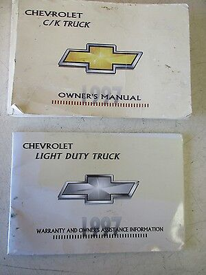 CHEVROLET 2500 PICKUP Owners Manual & Warranty Assistance Information  1997