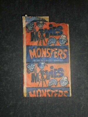 1961 HORROR MOVIE MONSTERS CARD WRAPPER NU-CARD *RARE*
