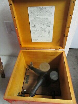 Ashcroft Type 1300 Dead Weight Gauge Calibration Tester Set Military Steampunk