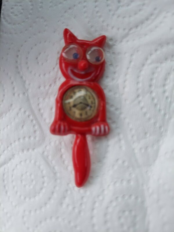 VERY RARE VINTAGE ANTIQUE FELIX THE CAT CLOCK PIN JIGGLY EYES MUST SEE