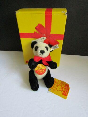 Steiff Panda bear all IDs stuffed animal Germany New And Signed!