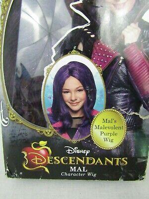 Disney Descendants Mal Isle of the Lost Girls Costume Wig Purple New