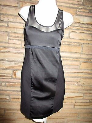 - NEW BB Dakota Sz S Black Sleek Dress Sheer Top Mini Form Fitting SEXY!!!