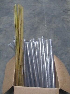 PACK OF 125x 60cm Spiral Clear Tree Rabbit Hedge Shelter Guard 50mm & 90cm Cane