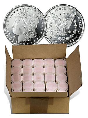 Box of 500 Rounds Highland Mint 1 oz Silver Morgan Dollar Design Round SKU37483