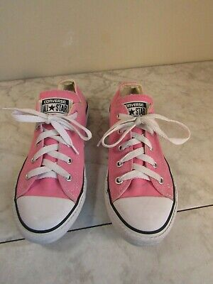 Converse All Star Classic Lace Up Pink Sneaker Shoes Size Youth 2 EU 33.5