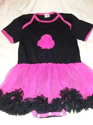 New ADULT Punk Princess Hot Pink & Black Adult Tutu Romper Dress](Hot Pink And Black Tutu)