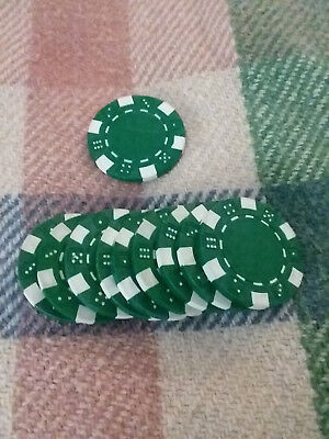 Poker Chips Clay Composite Dice Striped 11.5 Grams Green 10 (Composite Poker)