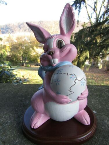 Vintage Ceramic Mold Winking Easter Bunny- Cracked Egg ~9.75 Inches Tall