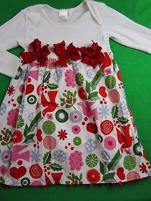 JOSIEKOT'S TRUNK BOUTIQUE Red Green Floral Snowflake Christmas Dress Girl 5 - Girls Trunk