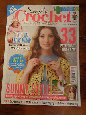 (SIMPLY CROCHET HOOKED ON HANDMADE ISSUE 73 2018  MAGAZINE  NEW  33 PATTERNS)