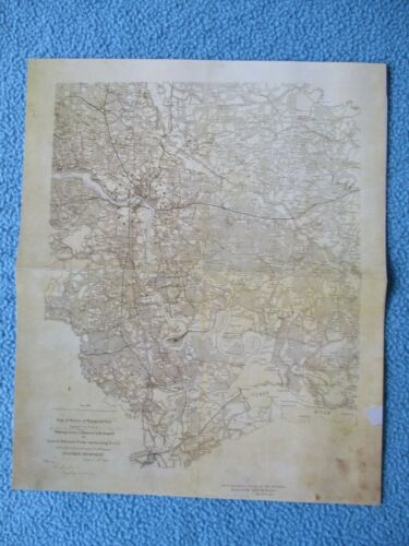 "# Civil War Map - ""Chambliss Map"", Richmond, Pertersburg, James River, Defenses"