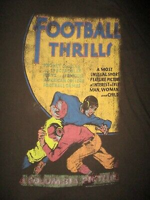 1940s Men's Shirts, Sweaters, Vests FOOTBALL THRILLS T SHIRT Retro 1940s Movie Poster Art Castle Columbia Picture XL $21.24 AT vintagedancer.com